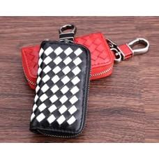 Weaving Series Leather Car Key Chain Bag
