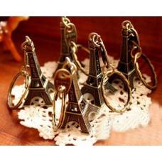 20 Pieces 2 Inches Metallic Eiffel Tower Keychain - Bronze