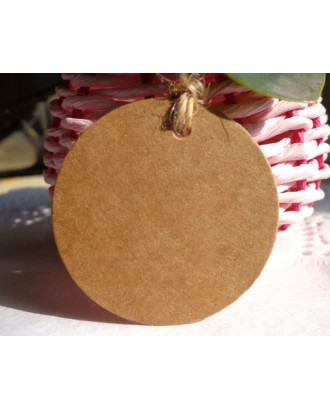 Kraft Paper Gift Tags 100 Pieces Writable Hanging Labels with 30m String