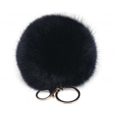 6 Pcs Fluffy Fur Ball Keychain