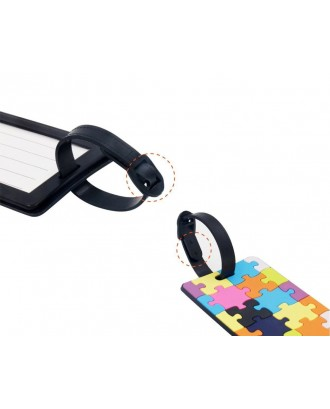 3 Pieces PVC Travel ID Name Label Luggage Tags